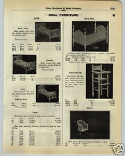 1930 PAPER AD Betty Jean Doll Furniture Polly Suzanne Beds High Chair Sulky