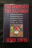 The Serpent and the Rainbow Wade Davis (1985 Hardcover) 1st Edition Haiti Voodoo