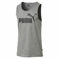PUMA Herren ESS Essential Logo Tank SL Tee / T-Shirt 851742 Grau Medium Gray