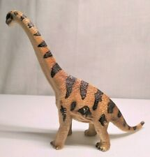 """Schleich Brachiosaurus Brown & Tan with Stripes 2002 7"""" Dinosaur Action Figure"""