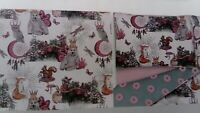Pink and Grey Superking Duvet Set Animals Rabbits Super King NEW Bedding Cover