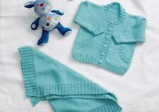"""PREMATURE~BABIES JACKETS/BLANKET ~ DOUBLE KNITTING PATTERN~SIZE 12-20""""  (T63)"""
