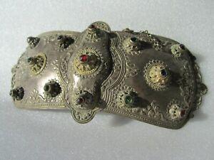 Antique 18th Century Nepalese Encrusted Metal Ceremonial Regalia Armor Ornament