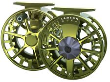 LAMSON GURU S -5+ FLY REEL IN OLIVE GREEN FOR 4, 5 OR 6 WT ROD -FREE US SHIP