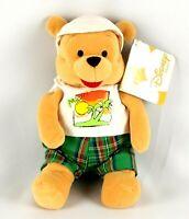 "Disney Store Plush Bean Bag Winnie The Pooh Miami 8"" Traveling Series Stuffed"