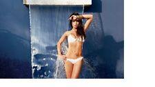 BRAND NEW BEACH BUNNY BIKINI SEA OF LOVE GOLD CHAIN WHITE XL 2 PC FULL SET