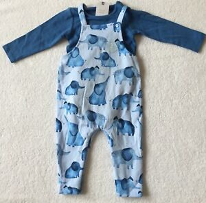 Next Baby Boy Elephant Outfit 9 - 12 Months - BNWT
