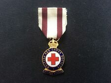 More details for vintage enamel pin lapel badge british red cross society 3 years service medal