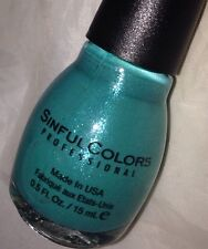 Sinful Colors Nail Polish *1583 SKY TREE* Teal Green w/Blue Purple Micro Shimmer