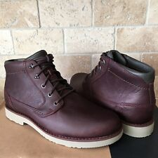 TEVA DURBAN MAHOGANY LEATHER LACE-UP ANKLE BOOTS SHOES SIZE US 7.5 MENS