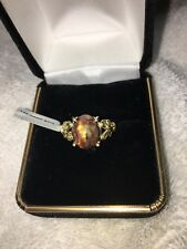 NEW LADIES RING 14k Yellow Gold & Oval Pietersite Cabochon, size 5-1/2, Nice!