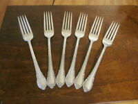 IS REMEMBRANCE Set of 6 Dinner Forks 1847 Rogers  Silverplate Flatware Lot B