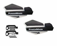 Powermadd Star Series Handguards Guards Mount Kit White / Black Yamaha ATV