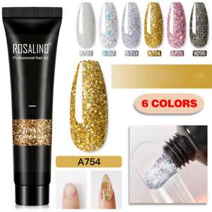15ml Glitter Poly Gel Shiny Quick Builder UV Polish Nail Extension Art Design