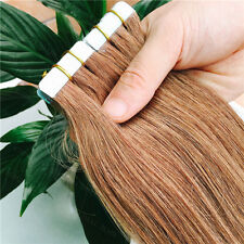 8ASeamless Tape In Skin Weft Ombre T blonde Remy Human Hair Extensions 16-26Inch