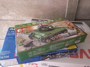 Black Friday Military Steel Empires Building Block US Army M4 Sherman Tank