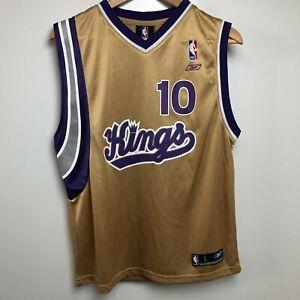 Reebok Basketball Jersey Youth L Gold Purple Sacramento Kings #10 Mike Bibby NBA