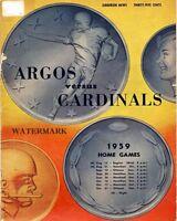 1959 CFL Toronto Argonauts vs NFL Chicago Cardinals Program Print 8 X 10 Photo