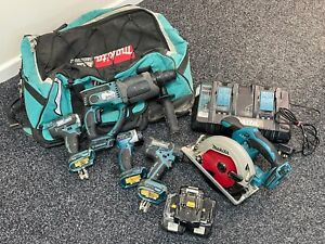 Makita 18v 5 Piece Cordless Combo Power Tool Kit