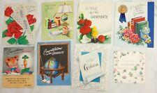 Vintage graduation cards lot of 8 Hallmark American Greetings Wishing Well