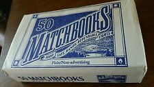 Matchbooks Plain (50 per box) D.D. Bean Sons Co - Made in Usa