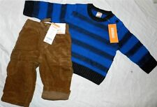 Pant Set Brown Gymboree Corduroy Royal Sweater Fall Winter Boy 6-12 month New