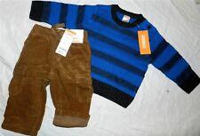 Pant Set Brown Gymboree Corduroy Royal Sweater Fall Winter Boy 6-12 month New