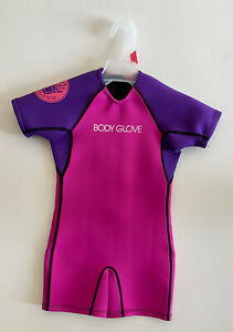BODY GLOVE Girls Springsuit Wetsuit Girls Small 35-45 Lbs. Pink & Purple