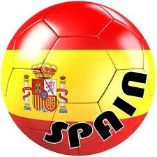 decal sticker worldcup car bumper flag team soccer ball foot football spain