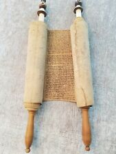 ANTIQUE JEWISH MANUSCRIPT GENESIS ON GVIL PART OF BERESHIS ANTIQUE JUDAICA