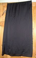 BNWT MAYSAA Ladies Black Satin Longer Length Slip / Underskirt Size Small
