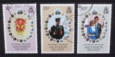 ASCENSION 1981 Royal Wedding. Set of 3. Fine USED/CTO. SG302/304.