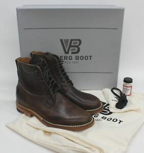 VIBERG Men's Brown Leather Military Service Derby Ankle Boots UK6 EU40 BNIB