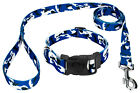Country Brook Petz® Deluxe Royal Blue and White Camo Dog Collar and Leash