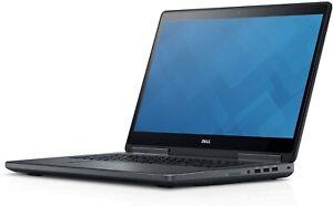 """Dell Precision 7720 Workstation 17.3"""" Intel i7-7820HQ 32GB 512GB SSD Win 10 Pro"""