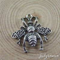 10PCS Antique Silver Alloy Bees Hornets Charm Pendant Jewelry DIY Accessories
