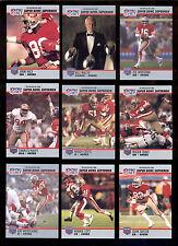 1990 49ers Super Bowl Set JOE MONTANA JERRY RICE BILL WALSH ROGER CRAIG CROSS