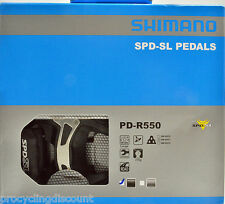 NEW 2018 Shimano PD-R550 SPD SL Road Pedals & SM-SH11 Floating Cleats: BLACK