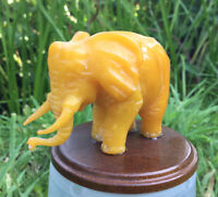 bernstein elefant ,butterscotch amber, carved amber,35 g.