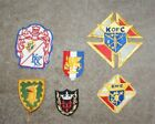 VINTAGE  KNIGHTS OF COLUMBUS PATCHES 6 LOT