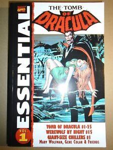 ESSENTIAL TOMB OF DRACULA Vol. 1 Marvel Comics 2003 tp tpb gn