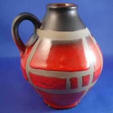Vases Red Date-Lined Ceramics (1960s & 1970s)