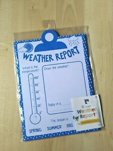 """Childrens or Classroom Activities """"Weather Report"""" 30 ct. Activity Pack Ages 3+"""