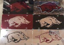 Arkansas Razorbacks License Plate