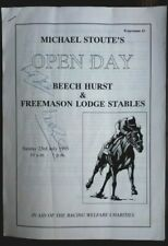 More details for walter swinburn & michael stoute signed programme for stables open day in 1995