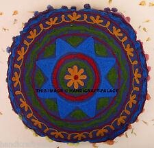 Suzani Embroidered Ethnic Sofa Floor Throw Cushion Cover Decorative Pillows Case