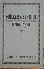 Catalogue Muller & Schmidt instruments de Mesures 1925