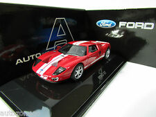 AUTOART 1/64 FORD GT 2004 RED WITH WHITE STRIPE n KYOSHO, WITH TRACK NUMBER