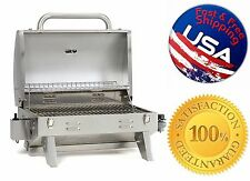 Gas Grill Propane BBQ Barbecue Outdoor Cooking Stainless Steel Portable On Table