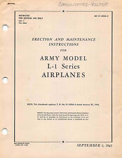 1943 L-1 Vigilant Erection & Maintenance Pilot's handbook Flight manual - CD -